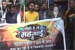 youth congress protest against rising inflation
