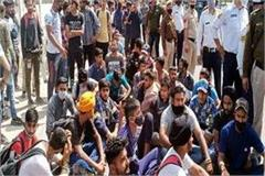 dharamsala chandigarh nh jammed by youths who came for army recruitment