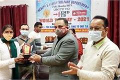 honored for doing excellent work in the field of tuberculosis