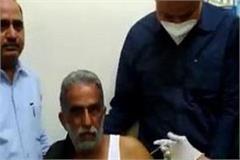union minister of state krishnapal gurjar got vaccinated