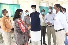 minister kailash sarang visit gandhi medical college