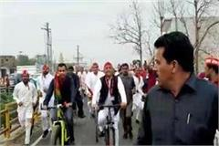 up akhilesh yadav will start cycle rally in rampur today