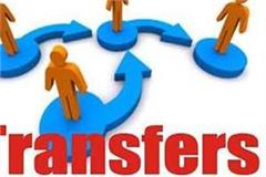 transfer of 5 has officers