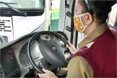 seema becomes the first woman driver of himachal to run an inter state bus