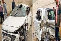 collision between 2 cars 5 injured