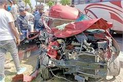 collision between car and truck death of one