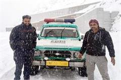 serious patient transported from keylong to kullu in amidst 4 hours of snowfall