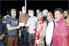 sonu of kangra bharat kesari and shivam of bilaspur won the title of him kumar