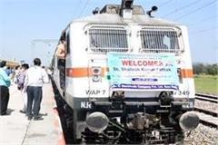 electrification train trial successful on amb daulatpur rail track