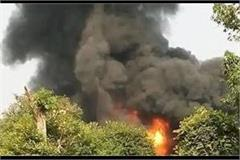 a fire in the factory with a loud blast in kanpur