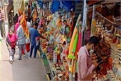 naina devi temple shops behind yellow line