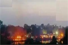up corona crisis deepening in capital lucknow many pyres burnt together