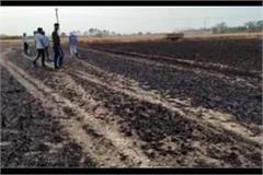 crop burning due to short circuit