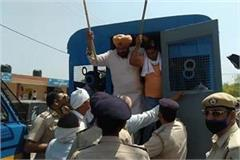 police detained 70 farmers in kurukshetra