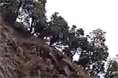 landslide occurred on khajiar road of chamba