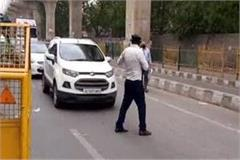 more strictness on the faridabad border adjoining delhi