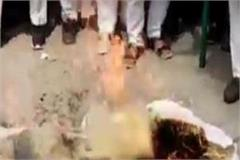 fir filed against farmers farmers burnt effigy of mp nayab saini