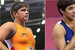 female wrestlers sonam and anshu get tickets for tokyo olympics
