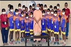 cm s gift from tribal children from yogi came from andhra pradesh