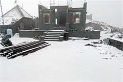 snowfall in shri aadi himani chamunda temple