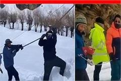 lahaul valley snow for 5 days workers engaged in power restoration
