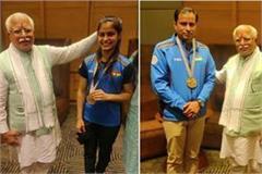manu bhaker and sanjeev rajput achieve olympic quota meet cm manohar