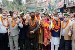breaking congress takes over solan poonam grover becomes mayor