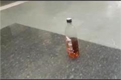 empty bottles of liquor found in bus base premises