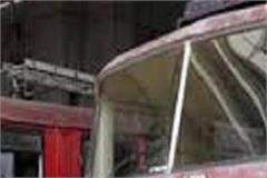 a fire broke out in the fire brigade s car while sanitizing