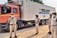 truck laden with 2 40 lakh doses of vaccine found in mp driver missing