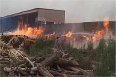 plywood factory caught fire millions worth of goods burnt to ashes