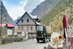 convoy of trucks left for leh with the supply of the army