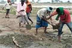 dead bodies found in chandauli landing in the ganges