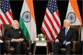 modi meets global leaders invites us vice president to visit india