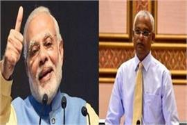 pm modi to take part in the swearing in ceremony of maldives president