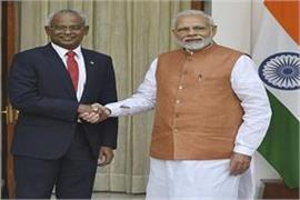 maldivian president meets pm modi talks on bilateral relations