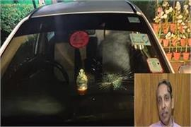 vc jagdish kumar s car attacked in jnu campus broken glass
