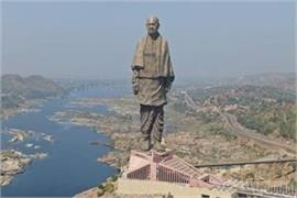 statue of unity doubles number of tourists reaching daily statue of liberty