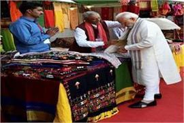 pm modi s shopping in gujarat festival