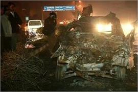 fire broke out after two cars collide in delhi 3 killed