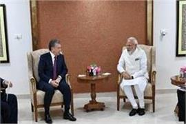 pm modi meet with uzbek president