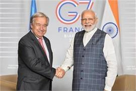 modi met to un chief antonio guterres