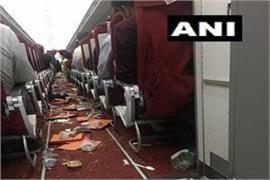 air india aircraft damaged due to strong wind passenger safe