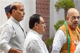 high level meeting shah rajnath present at bjp president jp nadda s house