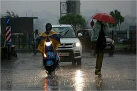 rain in many areas including delhi
