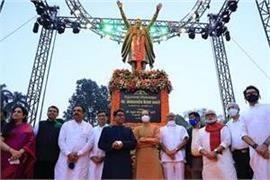 maharashtra statue of shiv sena founder bal sahab thackeray unveiled