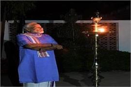 war with corona president ramnath kovind lit a lamp in rashtrapati bhavan