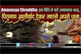 method of amavasya shradh