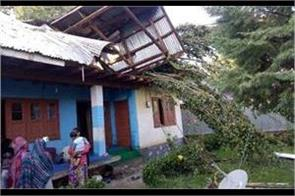 hail windstorm damage several houses crops in sopore tral