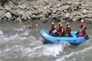 rafting suspend in kashmir